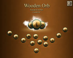 Free Wooden Orb Social icons by graphcoder