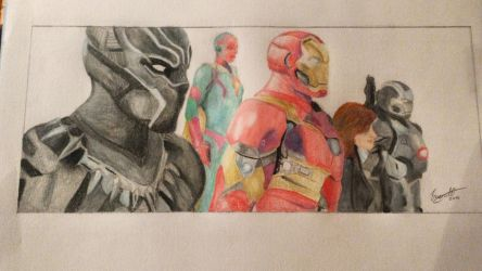 Captain America: CIVIL WAR - Team Iron Man by meerkat--love