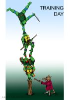 Teenage Mutant Ninja Turtles - Training Day by c-r-o-f-t