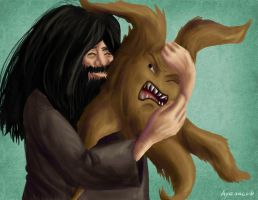 Day 15 - Rubeus Hagrid by hyenacub