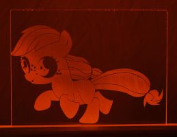 Filly Applejack Acrylic LED Picture by steeph-k