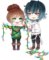 Chibi Couple Comm - GROUP COMM #1 by x-Cute-Kitty-x