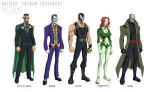 Batman: Gotham Crusaders - Villains by phil-cho