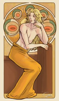 Art Nouveau Andrew by Syney