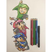 Triforce Heroes by Mimibert