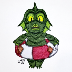 Ink-Draw 19: Creature from the Black Lagoon by kristinbowles