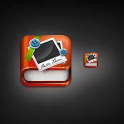 ScrapBooking iPhone Icon by dellustrations
