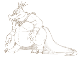 K. Rool, slightly more detailed by Ribbedebie