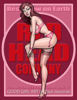 RED HEAD COMPANY 7 PINUP by GOODGIRLART