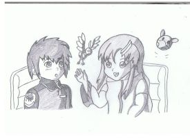 young kira and lacus by exia-4ever33