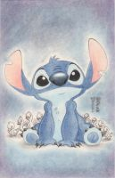Stitch Smile Original Art by DenaeFrazierStudios