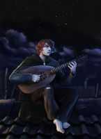 Kvothe The Bard - Rooftops over Anker's by Dream-of-This