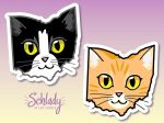 Ohio Cats - Tuxedo and Ginger by Schlady