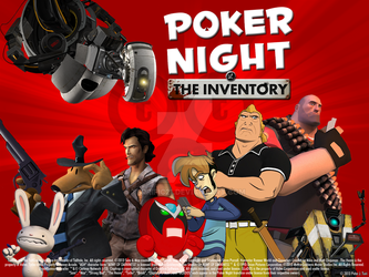 Poker Night at the Inventory Fan Wallpaper by Terrific21