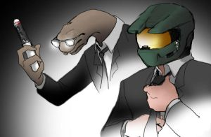 Agent A and Agent MC by jameson9101322