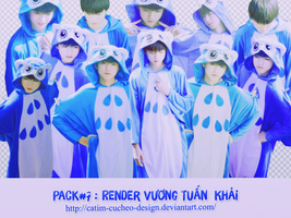 Pack # 7 : Stock and render Karry Wang TFBoys by Catim-Cucheo-Design