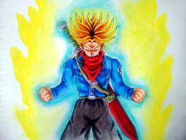 Future Trunks Super Saiyan Rage - HGD by HugoGDrawings