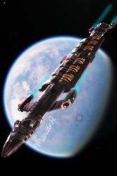 Hydra Class Freighter by Marian87