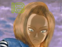 Android 18 DBZ Vegetto style by vegetto-vegito