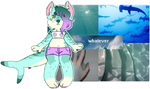 aesthetic adopt reveal: apathetic sea monster by irlnya