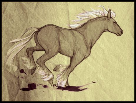 Running horse by doven