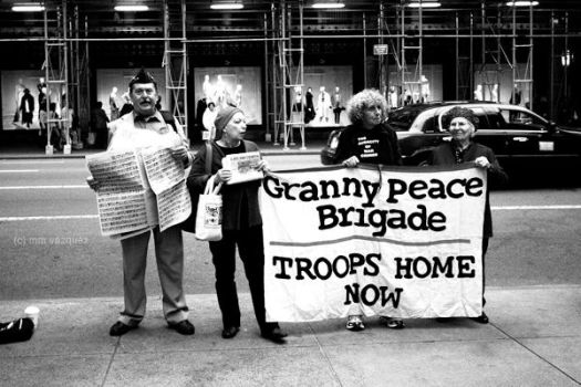 Granny Peace Brigade by karwahe