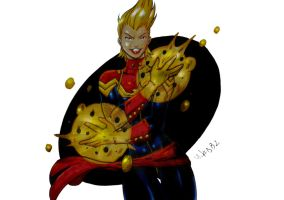 Captain Marvel Colors (Final) by MikeES