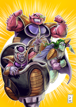 Freeza, Dodoria and Zarbon colors by Savedra