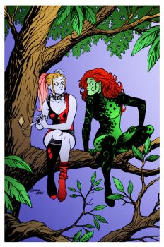 Harley and Ivy by Dave Johnson and Amanda Conner by DrDoom1081