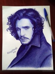 Kit Harington - Ball Pen by FabianaAzevedo