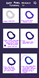 Easy pearl necklace tutorial by Jacky-Bunny