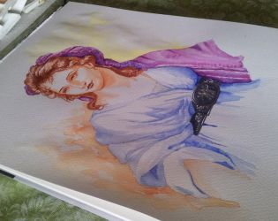 The Innocent Girl - watercolor by Giselle-M