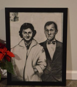 Charcoal Drawing of My Deceased Grandparents by Ranbooby