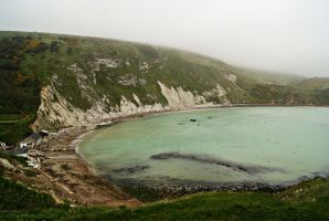 Lulworth Cove on a Cloudy Day by wafitz