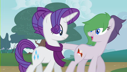 Rarity and Her Daughter by theponygaming