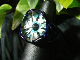 Ice Glow Wing Ring by BacktoEarthCreations