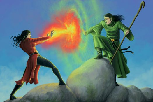 Wizard Battle by quellion