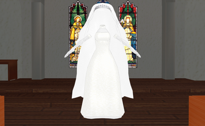 MMD Wedding Dress 03 -Final Dress- by amiamy111