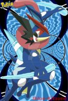 Ash's Greninja [New Form is ???] by Iblue-Kitzune