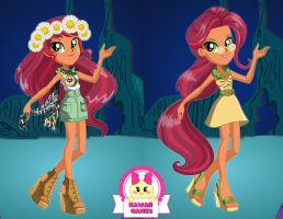 Equestria Girls Legend of Everfree Gloriosa Daisy by heglys