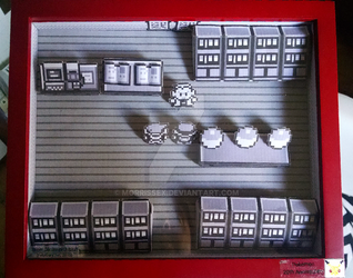 Pokemon Red, 20th Anniversary Diorama by Morrissex
