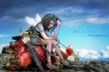 Tired Cupid by Alosa