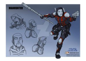 Young Justice Character Designs Manhunter 1