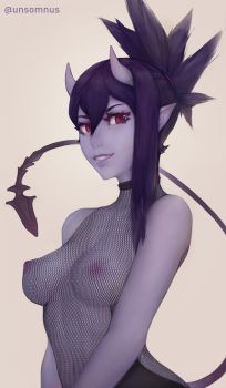 Demon Assassin Pinup by Unsomnus