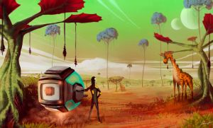 Dry Alien Planet by LouizBrito
