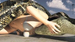 Snake on the sand by PWRof3D