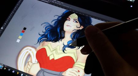 wip 2 wonder woman color by alemaglia