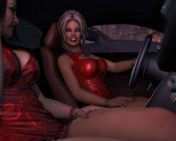 Charis and Brooke - Driving by 007Fanatic