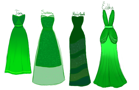 Green CW dresses by xXLionqueenXx