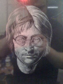 john lennon etched by Orbski